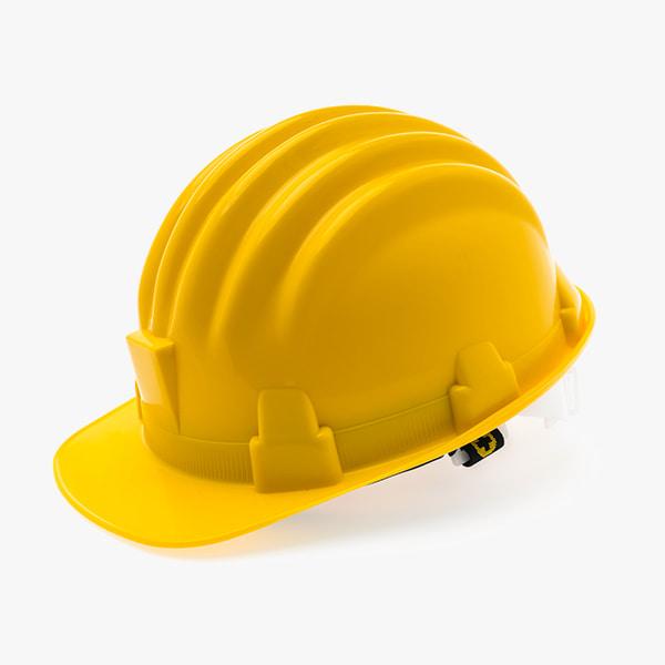 yellow plastic construction helmet